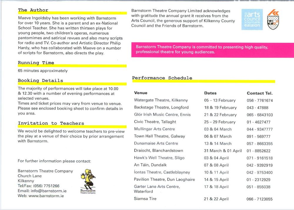Brochure for The Bus (2008)