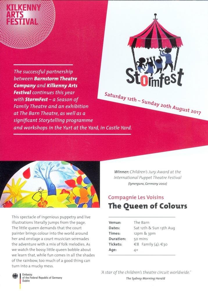 From Kilkenny Arts Festival brochure (2017)