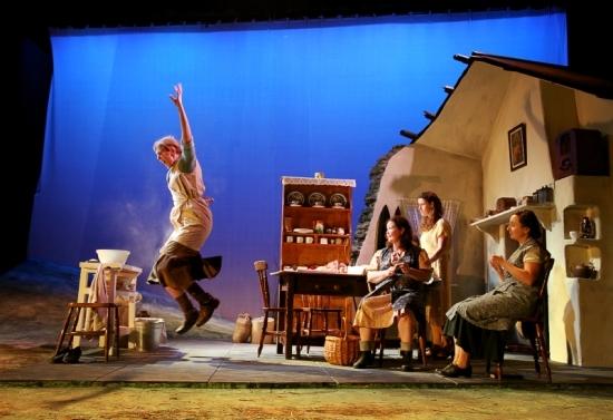 Barn Owl Players actors (L to R): Mary Cody, Janis Woodgate, Sinead Goggin, Nicola Keating