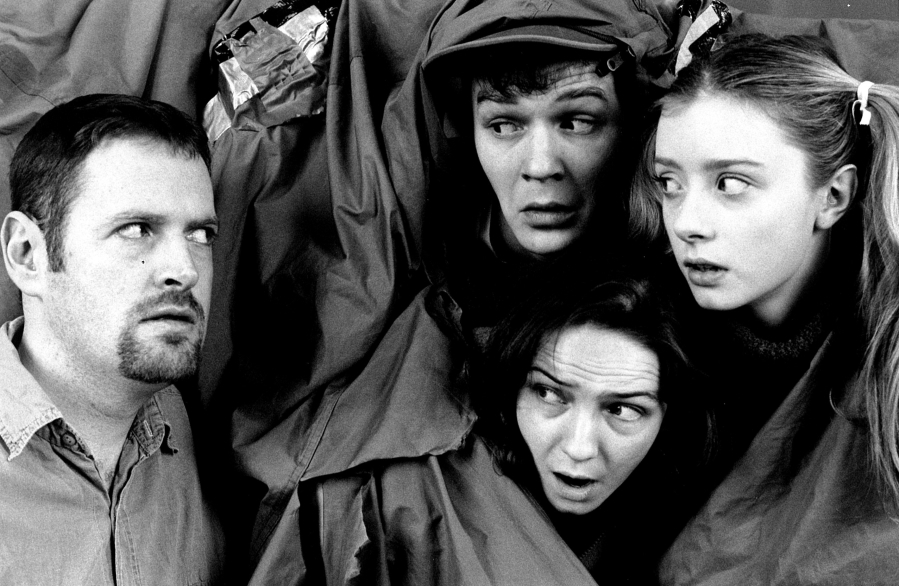 L to R: Micheal (Seamus Power), Martin (Enda Andrew Kilroy), Emer (Aoife O'Beirne) and Aisling (Fiona Glascott)
